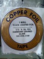 "COPPER FOIL - 1/2"" BLACK BACK"
