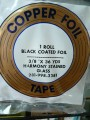 "COPPER FOIL 3/8"" BLACK BACK"