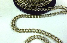 18 Guage Brass Ladder Chain. Sold by the FOOT.