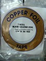"COPPER FOIL - 1/4"" BLACK BACK"