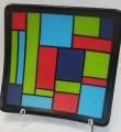 Sunday Is Fusing Fun Day! - Mondrian-Style Fused Plate - August 29, 2021